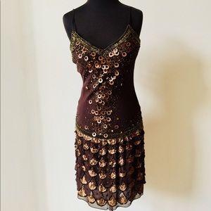 ❗️Sue Wong 100% Silk Beaded Sequin Dress MSRP $398